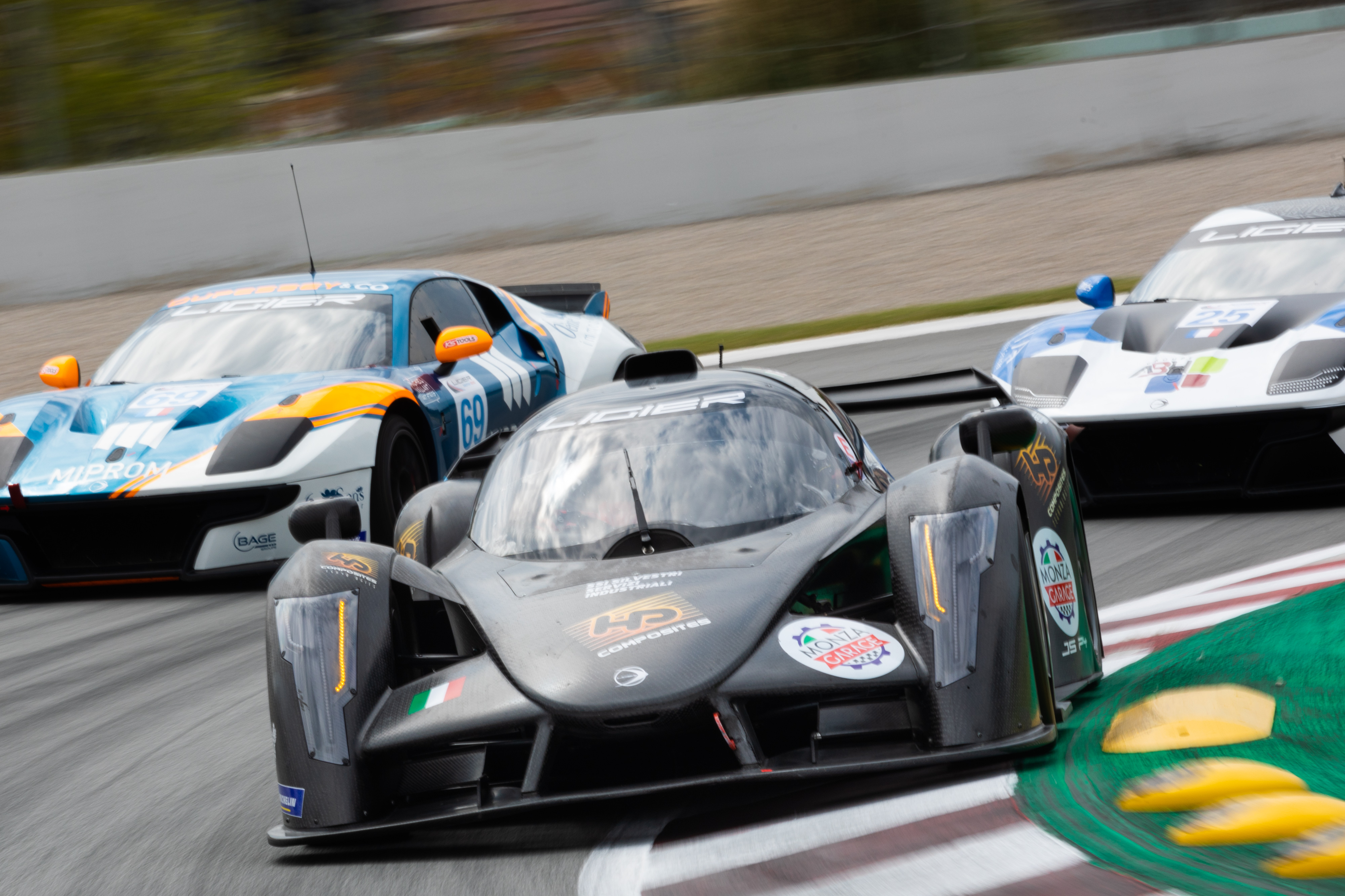 23 Faccioni Jacopo (ita), Cicognani Alessandro (ita), HP Racing by Monzagarage, action , during the Heat 1 - Barcelona of the 2021 Ligier European Series, from April 15 to 17, 2021 on the Circuit de Barcelona-Catalunya, in Montmelo, near Barcelona, Spain - Photo Frédéric Le Floc'h / DPPI