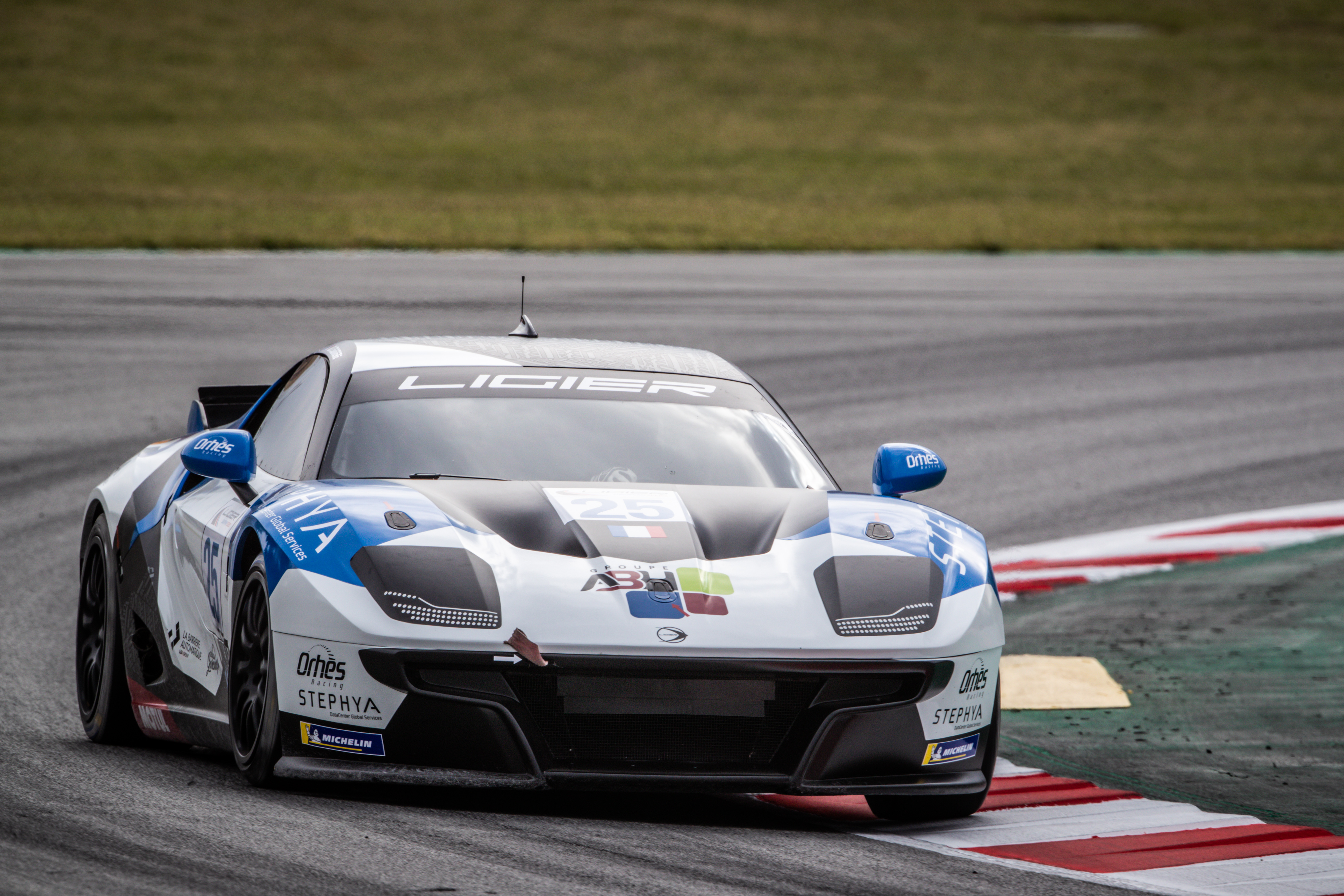 25 Bucher Alain (eau), Tsamere-Tsedri Arnaud (fra), Orhes Racing, Ligier JS2 R, action , during the Heat 1 - Barcelona of the 2021 Ligier European Series, from April 15 to 17, 2021 on the Circuit de Barcelona-Catalunya, in Montmelo, near Barcelona, Spain - Photo Frédéric Le Floc'h / DPPI